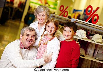 nagyszülők, és, unokák