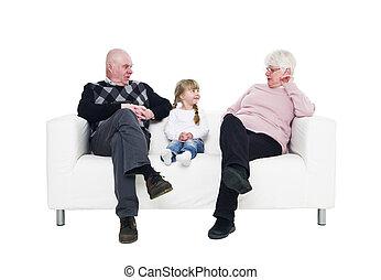 nagyszülők, leány, neki