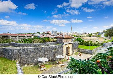Naha Castle in Okinawa - Naha, Okinawa, Japan at the outer ...