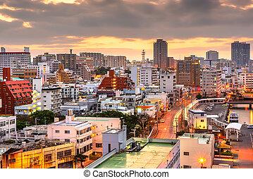 Naha, Okinawa, Japan Cityscape at Dawn