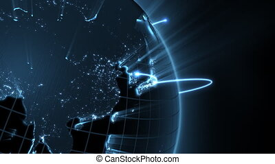 nahaufnahme, global, -, geschaeftswelt, schleife