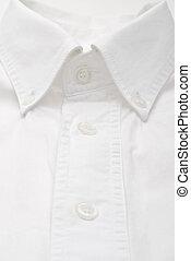 nahaufnahme, weißes kleidung hemd