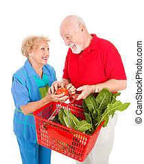 nahrungsmittel einkaufen, spaß