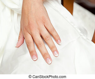 Nail art - Nnail art for the wedding day with white...