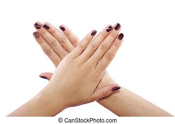 Nail Art - Modern nail art with patterns and custom polish...