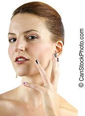 Nail Art - female model showing nail art