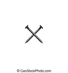 Nail construction tool icon
