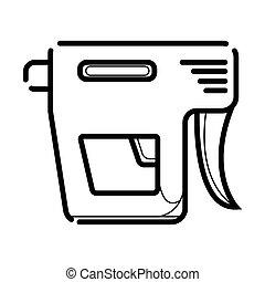 Nail gun icon vector