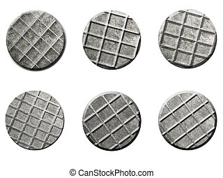 Nail Heads Image isolated on white