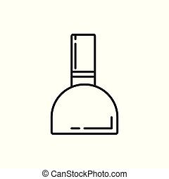 Nail Ink Bottle Thin Line Icon Illustration Design
