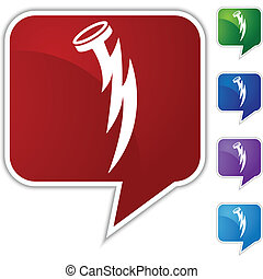 Nail Lightning Bolt - Nail lightning bolt icon isolated on a...