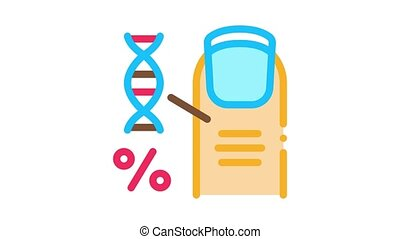 nail molecule percent Icon Animation. color nail molecule percent animated icon on white background