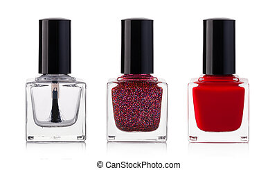nail polish -  nail polish bottle on white background