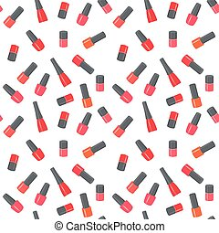 Nail polish bottles seamless pattern. Raster Illustration