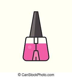 Nail polish, filled outline icon