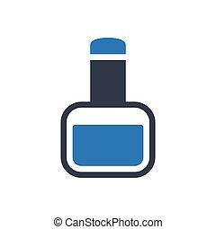nail polish glyph color icon