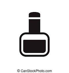nail polish glyph flat icon