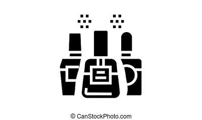 nail polish animated glyph icon. nail polish sign. isolated on white background
