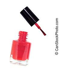Nail Polish - Nail polish isolated against a plain ...