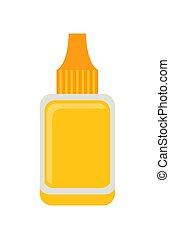 Nail Polish Remover Poster Vector Illustration - Nail polish...