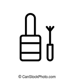 nail polish thin line icon