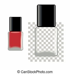 Nail polish. Red and empty bottle. Template for any color of...