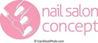 Nail Salon or Bar Concept - Nail bar, nail technician or...