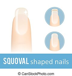how to get squoval nail shape