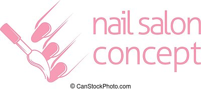 Nail Technician Concept - Nail bar technician, nail or salon...