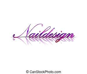 naildesign 3d word