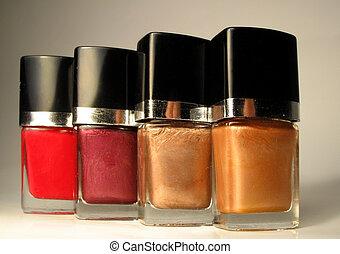 nailpolish bottles - different shades of nailpolish