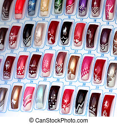Nails 5 - Big collection of finger nails in various color