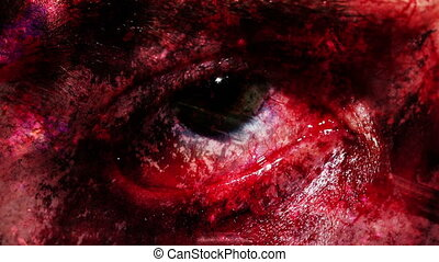 Nails and eye horror grunge creepy 480F looping background