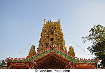 nainativu, nagapooshani, amman, świątynia, jaffna, sri lanka