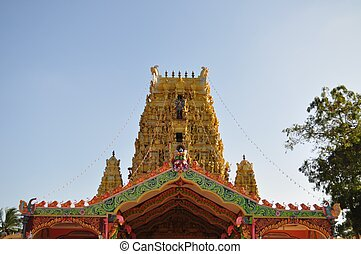 nainativu, nagapooshani, amman, templo, jaffna, sri lanka