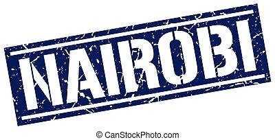 Nairobi blue square stamp
