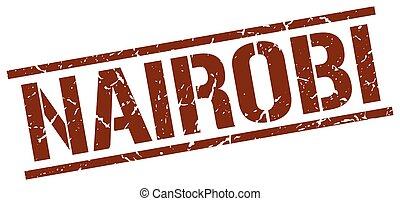 Nairobi brown square stamp