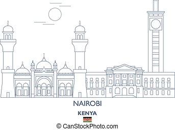 Nairobi City Skyline, Kenya - Nairobi Linear City Skyline,...