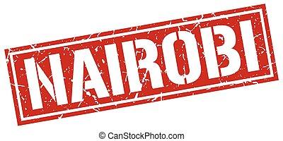 Nairobi red square stamp
