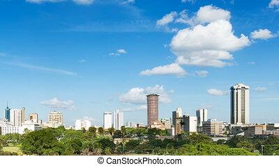 Nairobi Skyline Timelapse, Kenya - Timelapse sequence of the...