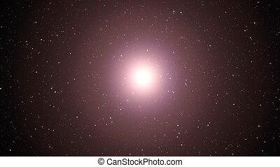 naissance, bang., grand, universe., supernova.