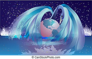 naissance, la terre