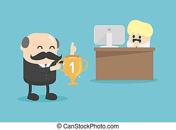 najbardziej, pilny, osoba, nagrody, szef, towarzystwo, ...