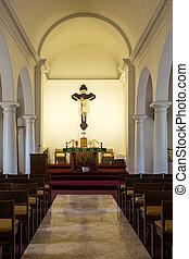 najbardziej stary, katolik, kościół, na, kauai