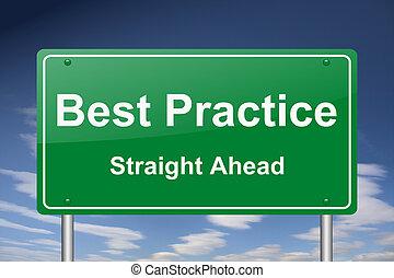 najlepszy, praktyka, znak