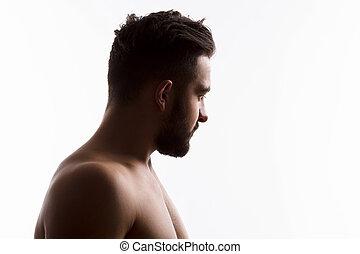 Naked handsome man