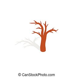 Naked tree icon, isometric 3d style