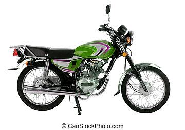 naked_bike - black and green naked bike isolated on white...