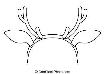 nakreslit umění, temný i kdy běloba, reindeer paroh