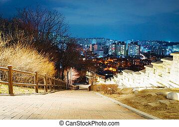 Naksan park at night